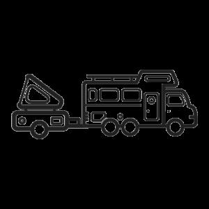 FOBO Tire 2 - Aanhanger/vouwwagen pakket - 8 Sensoren